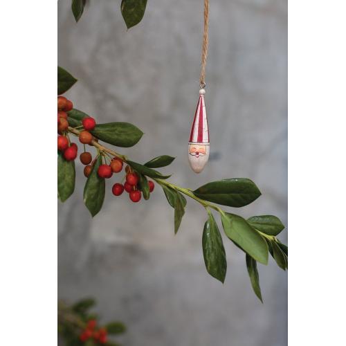 "0.5""x 2.75 Candystripe Santa Collection (Ornament Option)"