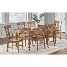 7 Piece Set (Dining Table and 6 Side Chairs)