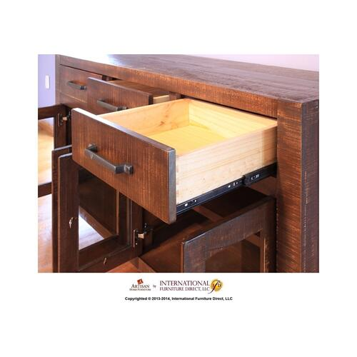 Artisan Home Furniture - 59in 4 Glass doors