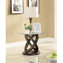 Occasional Casual Espresso End Table