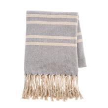 See Details - Denim & Natural Stripe Woven Throw