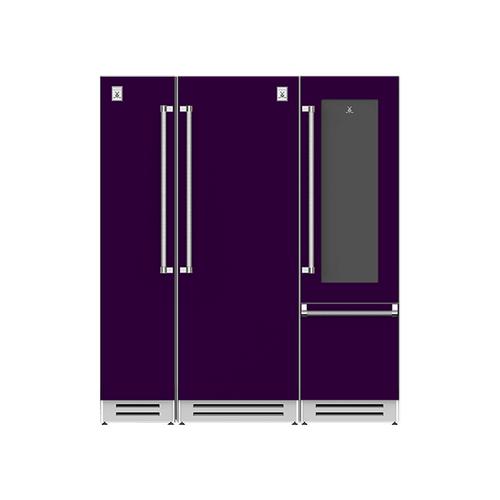 "Hestan - 72"" Column Freezer (L), Refrigerator and Wine Refrigerator ® Ensemble Refrigeration Suite - Lush"