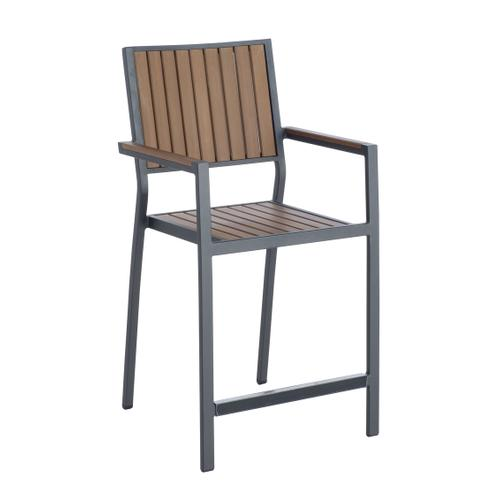 Penelope Alum/Polywood Stackable Gathering Arm Chair