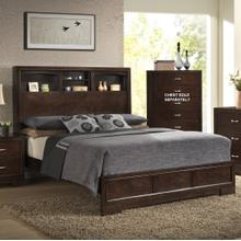 Montana Modern Wood Bookcase QUEEN & KING Bed Walnut Finish, King