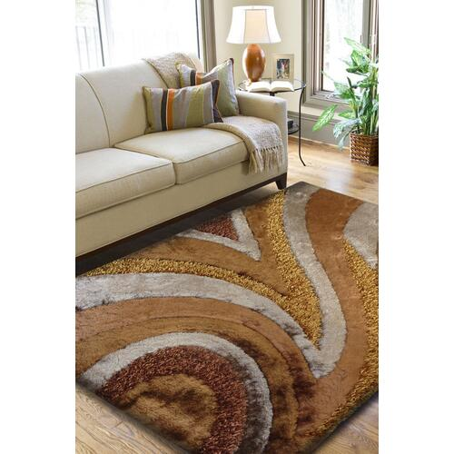"Designer Shag S.V.D. 26 Area Rug by Rug Factory Plus - 2' x 7'5"" / Earth"