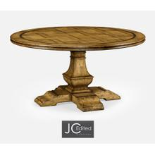 """See Details - 60"""" Round Light Brown Chestnut Dining Table"""