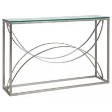 See Details - Silver Leaf Ellipse Console