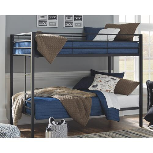 Broshard Twin Over Twin Metal Bunk Bed