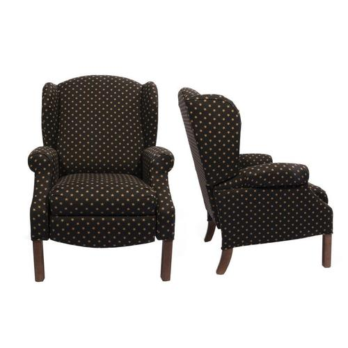Lancer - High Backed Recliner with Oak Finish Chippendale Legs