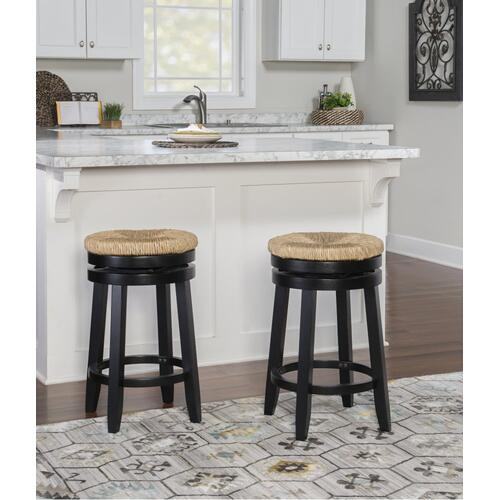 Swivel Seat Counter Stool, Black