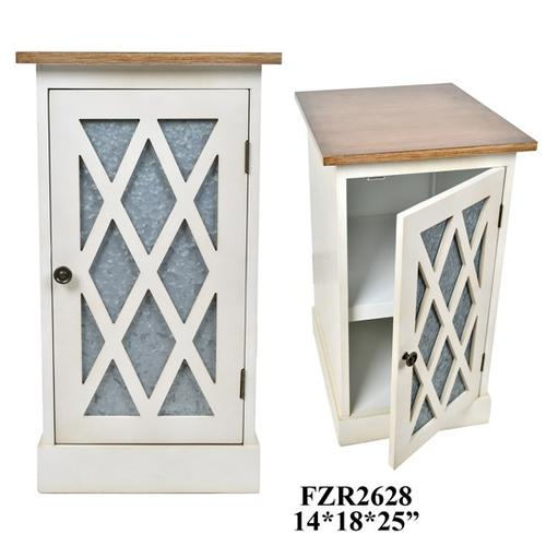 CABINET 14X18X25 WHITE WITH WOOD TOP. 1PACK 5.23'