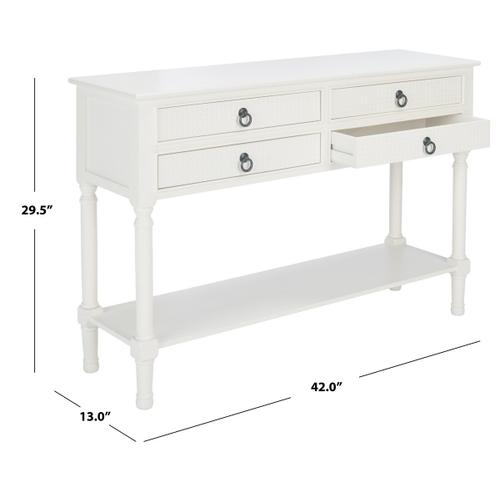 Safavieh - Haines 4 Drawer Console Table - White