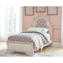Realyn Twin Panel Bed Chipped White