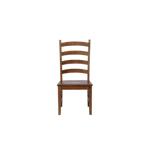 Ladder Back Dining Side Chairs - Amish (Set of 2)