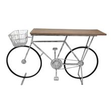 See Details - Bicycle Console Table, White