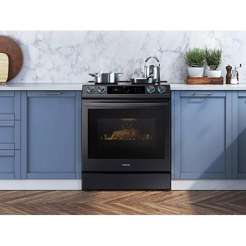 6.3 cu. ft. Smart Slide-in Induction Range with Smart Dial & Air Fry in Black Stainless Steel