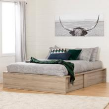 Fusion - Ottoman storage bed, Rustic Oak embossed, Queen