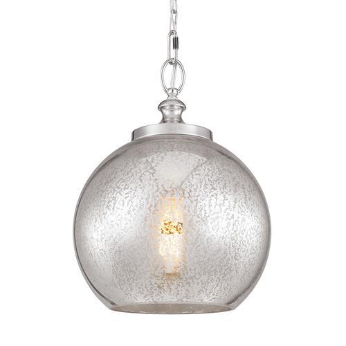Tabby Mercury Glass Pendant Brushed Steel