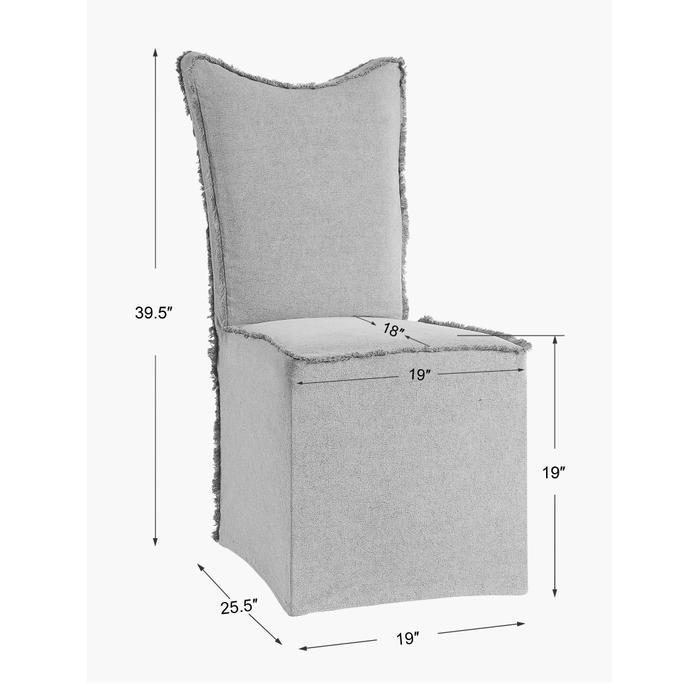 Uttermost - Narissa Armless Chair, 2 Per Box
