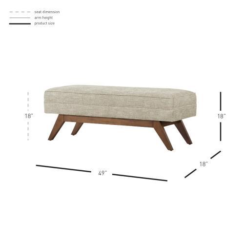 Newton Fabric Bench, Rice