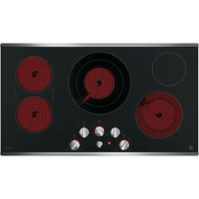 "GE Profile 36"" Electric Smoothtop Cooktop Stainless Steel PP7036SJSS"