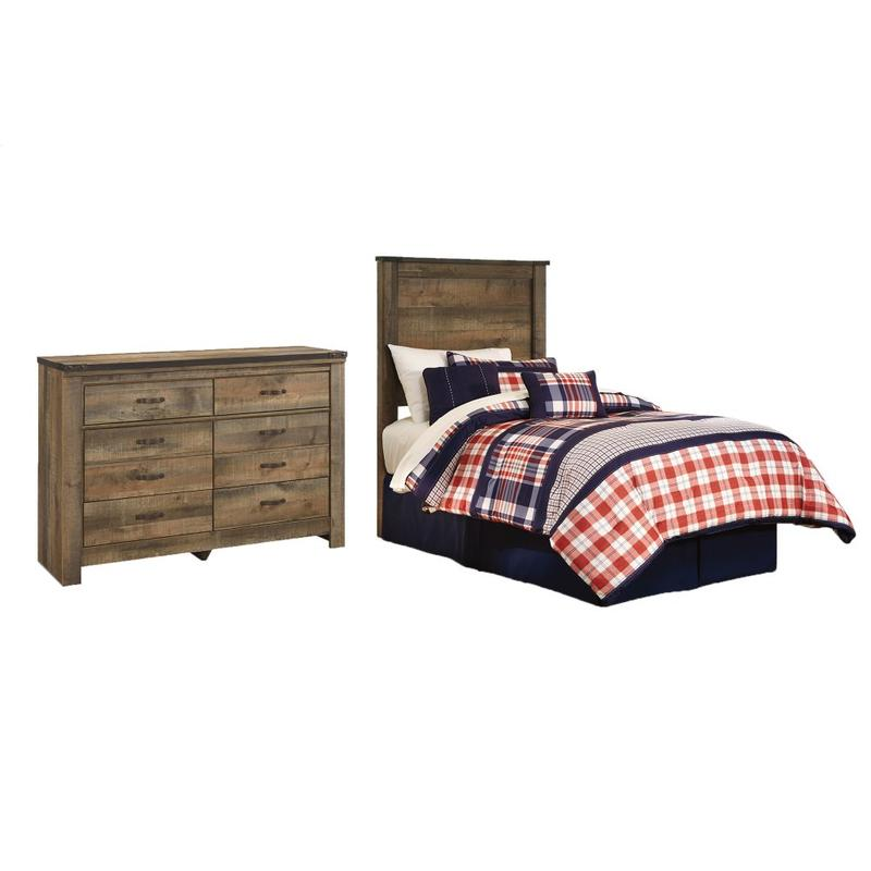 View Product - Twin Panel Headboard With Dresser