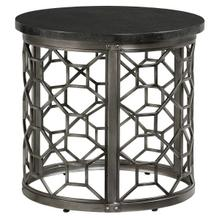 Equinox, Round End Table, Grey