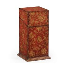Single Glass Decanter & Red Chinoiserie Case