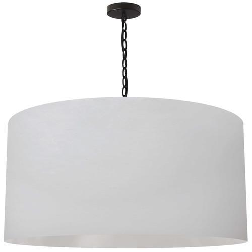 Product Image - 1lt Braxton X-large Pendant, Wht Shade, Blk