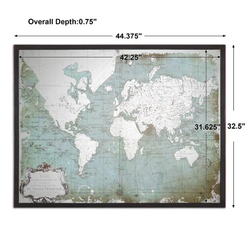 Mirrored World Map Framed Print