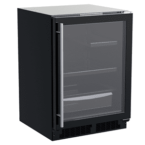 Marvel24-In Built-In Refrigerator With 3-In-1 Convertible Shelf And Maxstore Bin with Door Style - Black Frame Glass