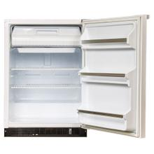 24-In Flammable Material Refrigerator Freezer with Door Style - White