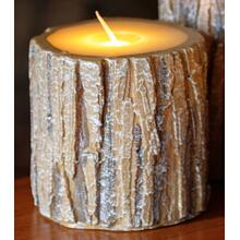 "4"" Tree Bark LED Candle"
