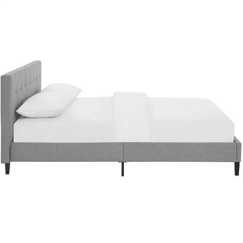 Linnea Full Bed in Light Gray