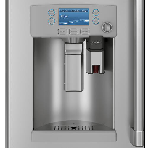 Café 22.2 Cu. Ft. Counter-Depth French-Door Refrigerator with Keurig ® K-Cup ® Brewing System Stainless Steel