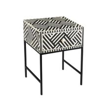 Product Image - Noire Bone Inlay Side Table