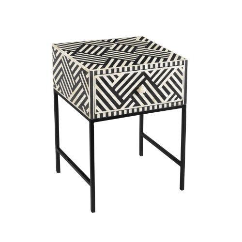Tov Furniture - Noire Bone Inlay Side Table