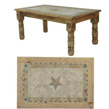 See Details - 8' Table W/Stone & Star