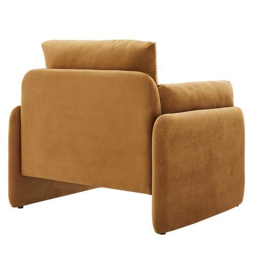 Modway - Indicate Performance Velvet Armchair in Cognac