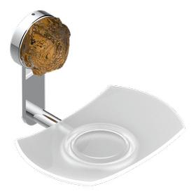 Glass soap dish, wall mounted