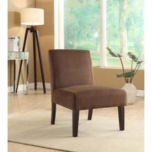 Laguna Chair In Chocolate Velvet Fabric With Dark Espresso Legs