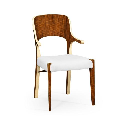 Hyedua and Ivory Armchair, Upholstered in COM