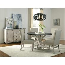 Jefferson Round Dining Table, Distressed Brown