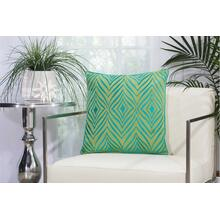 "Outdoor Pillows L1521 Green/tur 18"" X 18"" Throw Pillow"