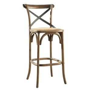 Bentwood Bar Stool w/ Metal Back