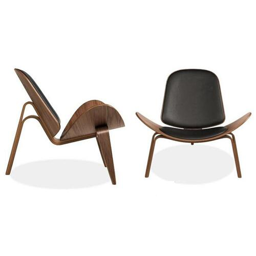 Modrest Warren Modern Black & Walnut Accent Chair