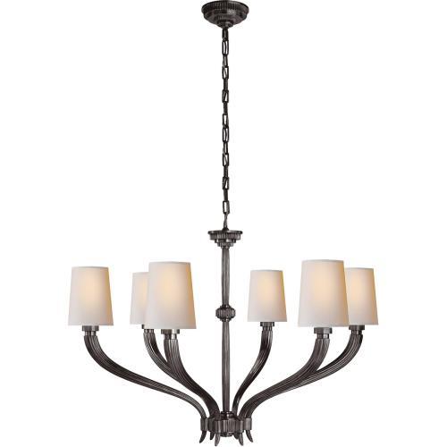 Visual Comfort CHC2462BZ-NP E. F. Chapman Ruhlmann 6 Light 35 inch Bronze Chandelier Ceiling Light