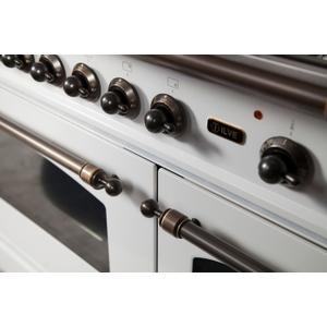 48 Inch White Dual Fuel Natural Gas Freestanding Range