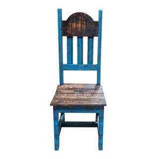 See Details - Turq Scraped Wood Plain Chair