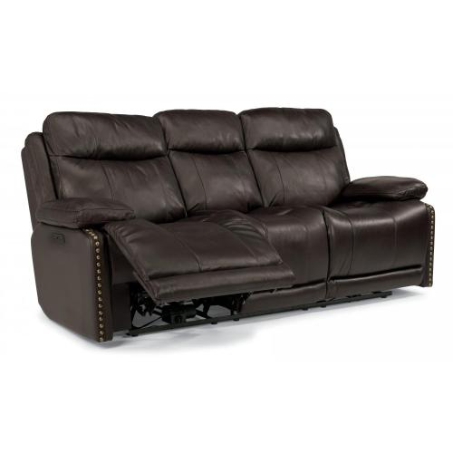 Product Image - Russell Leather Power Reclining Sofa with Power Headrests